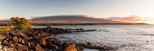 Panorama Of The Waikoloa Coast...