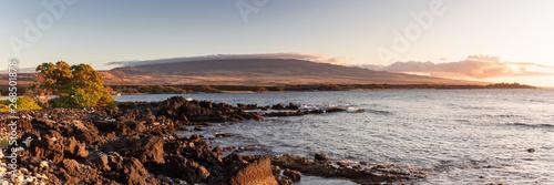 Fototapeta Panorama of the Waikoloa coastline obraz