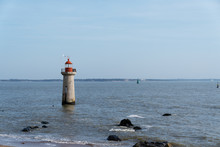 Cap Vilers-Martin Lighthouse Indicating The Entrance Channel In The Port Of Saint-Nazaire