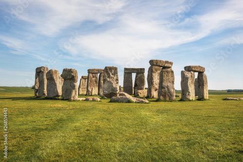 Stampa su Tela Stonehenge an ancient prehistoric stone monument near Salisbury, UK, UNESCO World Heritage Site