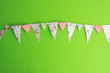 canvas print picture - colorful party flags and triangular shape