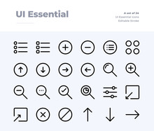 UI Essential Line Icons. Material Design Pixel Perfect Icon. Editable Stroke. 32x32 Pixel Perfect Icon