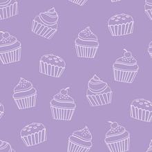Vector Seamless Pattern Purple...