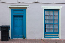 Blue Door And Window On Side O...