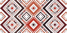 Ikat Seamless Pattern. Tribal ...