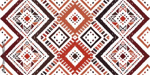 Ikat seamless pattern. Tribal art print. Chevron Wallpaper Mural