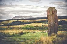 Machrie Moor Standing Stones, Isle Of Arran, Scotland.