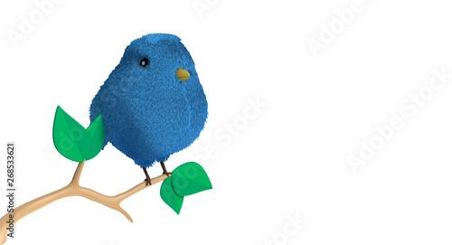 Photo  Pájaro en rama con hojas