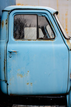 Old Truck Door In Blue