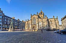 St Giles Cathedral In Edinburg...