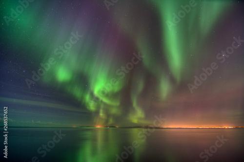 Foto auf Gartenposter Nordlicht Iceland aurora borealis
