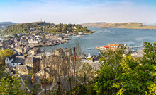 Panorama View Over Oban In Sco...