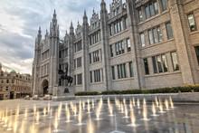 Exterior Of The Marischal College In Aberdeen, Scotland