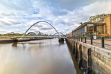The Millennium Bridge in Newcastle upon Tyne in Great Britain