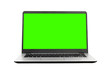 canvas print picture - Laptop with blank screen on white background