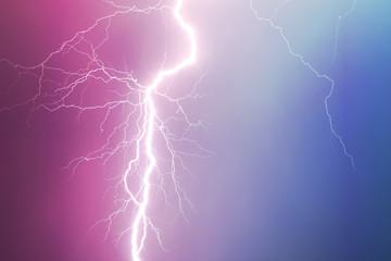 Lightning strikes the sky.