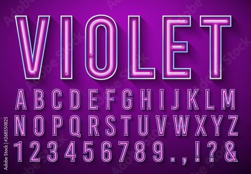 Photo  Bright neon letters