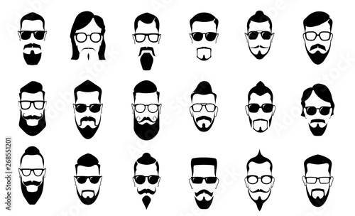 Foto Male moustache, beard and haircut