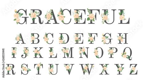 Fényképezés  Floral font