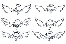 Angel Wings Lettering. Heaven ...