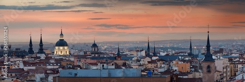 Madrid rooftop sunset view