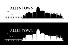 Allentown Skyline - Pennsylvania - United States Of America, USA - Vector Illustration - Vector