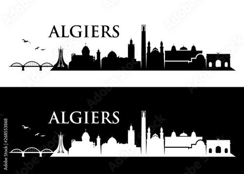 Algiers skyline - Algeria - vector illustration - Vector Tapéta, Fotótapéta
