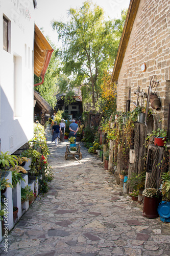 Picturesque alley in Tihany at Lake Balaton, Hungary