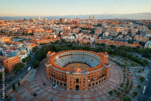 Recess Fitting Madrid Madrid Las Ventas Bullring aerial view