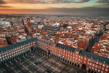 Madrid Plaza Mayor Aerial View
