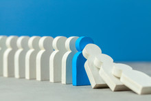 Domino Effect In Business. One...