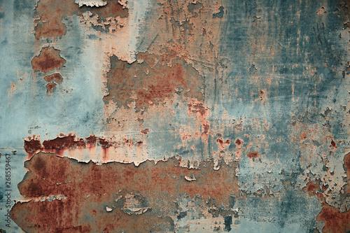 Obraz Texture of rusty metal with peeling paint - fototapety do salonu