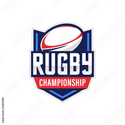 Fotografía  Rugby Logo, American Logo Sport