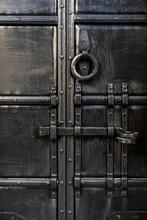 Old Black Metal Door Dead Bolt...