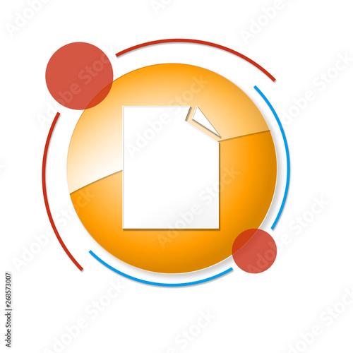 Obraz okrągły baner z ikoną - fototapety do salonu