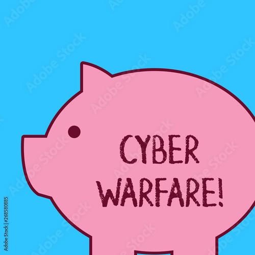 Photo  Handwriting text Cyber Warfare