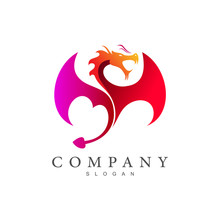 Flying Dragon Icon, Dragon Logo, Dragon And Fire   Game Application Icon ,china Company Icon