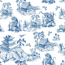 Seamless Pattern In Chinoiseri...