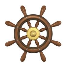 Ship Wheel Isolated
