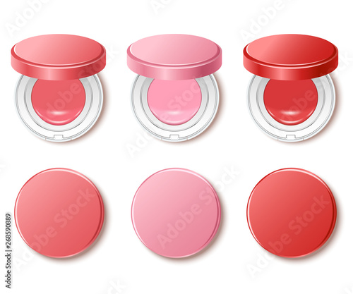 Cushion compact foundation packaging template : Vector Illustration Wallpaper Mural
