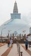 White stupa in Anuradhapura Sri Lanka