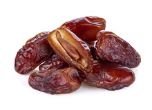 Dates Palm Fruit Isolated On W...