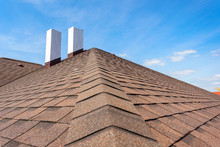 Asphalt Tile Roof With Chimney...