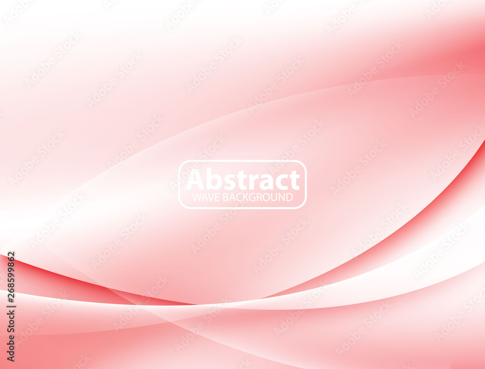 Fototapety, obrazy: Red Wave Abstract Background