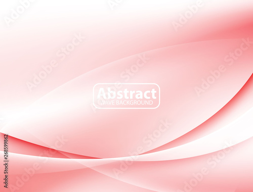 Fotografía  Red Wave Abstract Background