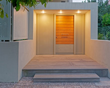 Contemporary Design Apartment Building Entrance Door, Illuminated