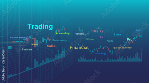 Trading Chart and Keyword (stock, commodity market, and foreign exchange)