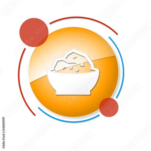 Fotografie, Obraz okrągły baner z ikoną