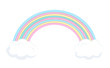 Vector rainbow with clouds. Illustraion for children
