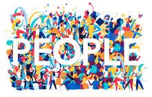 People Enjoy Life Together